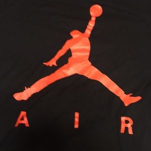 Men's air Jordan orange t shirt